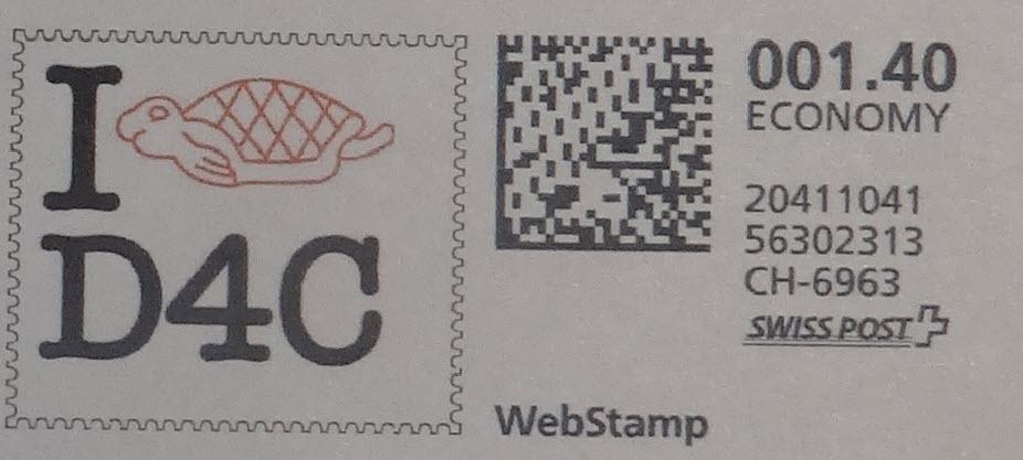 D4C francobollo EU